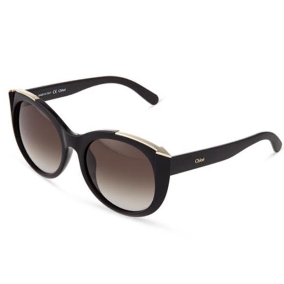 e18873ce6c75 Chloe Black Dallia Silver Arrow Sunglasses NIB